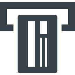 銀行のatmでの取引アイコン 2 商用可の無料 フリー のアイコン素材をダウンロードできるサイト Icon Rainbow