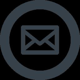 丸枠付きのメールのアイコン素材 3 商用可の無料 フリー のアイコン素材をダウンロードできるサイト Icon Rainbow