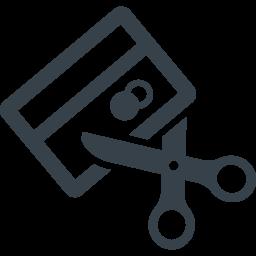 クレジットカードの破棄アイコン 2 商用可の無料 フリー のアイコン素材をダウンロードできるサイト Icon Rainbow