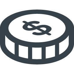 無料ダウンロードできるドルのコインアイコン素材 8 商用可の無料 フリー のアイコン素材をダウンロードできるサイト Icon Rainbow