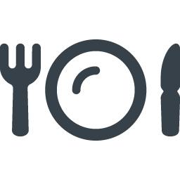 フォークとナイフとお皿の食事アイコン 商用可の無料 フリー のアイコン素材をダウンロードできるサイト Icon Rainbow