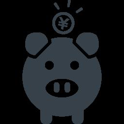 ブタの貯金箱のアイコン素材 7 商用可の無料 フリー のアイコン素材をダウンロードできるサイト Icon Rainbow