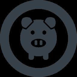 ブタのアイコン素材 2 商用可の無料 フリー のアイコン素材をダウンロードできるサイト Icon Rainbow