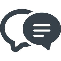 コメントの会話アイコン 1 商用可の無料 フリー のアイコン素材をダウンロードできるサイト Icon Rainbow