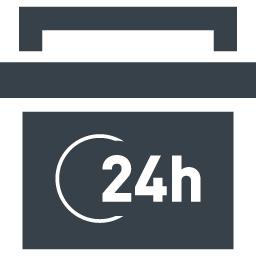 24時間営業の店舗のアイコン素材 商用可の無料 フリー のアイコン素材をダウンロードできるサイト Icon Rainbow