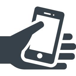 スマートフォンと手のアイコン素材 商用可の無料 フリー のアイコン素材をダウンロードできるサイト Icon Rainbow