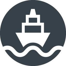 正面を向いた船のアイコン素材 3 商用可の無料 フリー のアイコン素材をダウンロードできるサイト Icon Rainbow