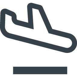 飛行機の着陸のアイコン素材 1 商用可の無料 フリー のアイコン素材をダウンロードできるサイト Icon Rainbow