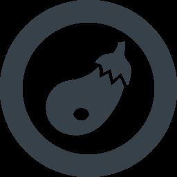 無料で使えるナスのアイコン素材 6 商用可の無料 フリー のアイコン素材をダウンロードできるサイト Icon Rainbow