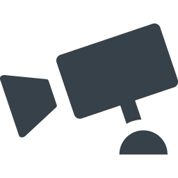 監視カメラのアイコン素材 商用可の無料 フリー のアイコン素材をダウンロードできるサイト Icon Rainbow