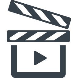 映画のカチンコのアイコン 3 商用可の無料 フリー のアイコン素材をダウンロードできるサイト Icon Rainbow