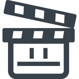 動画の再生マーク付き映画のカチンコのアイコン 4 商用可の無料 フリー のアイコン素材をダウンロードできるサイト Icon Rainbow