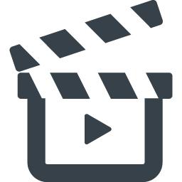 動画の再生マーク付き映画のカチンコのアイコン 7 商用可の無料 フリー のアイコン素材をダウンロードできるサイト Icon Rainbow