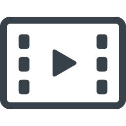 動画 Movie用の再生ボタンのアイコン 8 商用可の無料 フリー のアイコン素材をダウンロードできるサイト Icon Rainbow