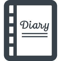 日記帳のイラストアイコン素材 1 商用可の無料 フリー のアイコン素材をダウンロードできるサイト Icon Rainbow