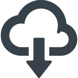 クラウドのダウンロードアイコン 素材 2 商用可の無料 フリー のアイコン素材をダウンロードできるサイト Icon Rainbow