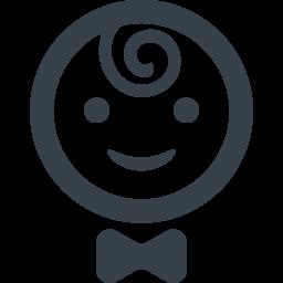 リボン付きの赤ちゃんのイラストアイコン素材 2 商用可の無料 フリー のアイコン素材をダウンロードできるサイト Icon Rainbow