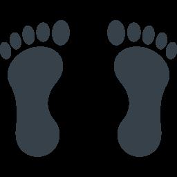 裸足の足あとのイラストアイコン素材 1 商用可の無料 フリー のアイコン素材をダウンロードできるサイト Icon Rainbow