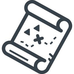 宝の地図の無料イラストアイコン素材 1 商用可の無料 フリー のアイコン素材をダウンロードできるサイト Icon Rainbow