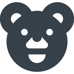 クマのアイコン素材 1 商用可の無料 フリー のアイコン素材をダウンロードできるサイト Icon Rainbow