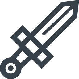 剣のアイコン素材 商用可の無料 フリー のアイコン素材をダウンロードできるサイト Icon Rainbow