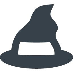 魔女の帽子のイラストアイコン素材 商用可の無料 フリー のアイコン素材をダウンロードできるサイト Icon Rainbow