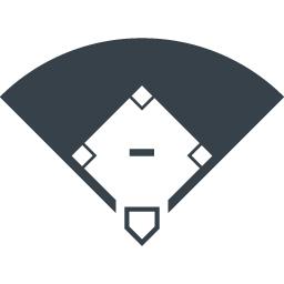 野球のダイヤモンドのアイコン素材 商用可の無料 フリー のアイコン素材をダウンロードできるサイト Icon Rainbow