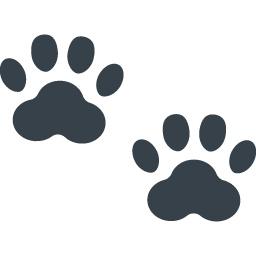 ネコの足跡の無料アイコン素材 2 商用可の無料 フリー のアイコン素材をダウンロードできるサイト Icon Rainbow