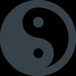 陰陽のマークアイコン素材 商用可の無料 フリー のアイコン素材をダウンロードできるサイト Icon Rainbow