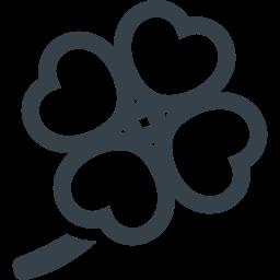 四葉のクローバーのアイコン素材 2 商用可の無料 フリー のアイコン素材をダウンロードできるサイト Icon Rainbow