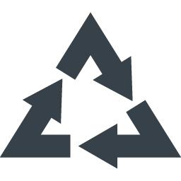 リサイクルマーク 三角系の矢印アイコン素材 5 商用可の無料 フリー のアイコン素材をダウンロードできるサイト Icon Rainbow