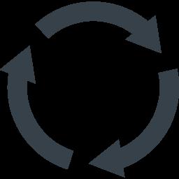 リサイクルマーク 丸型の矢印アイコン素材 1 商用可の無料 フリー のアイコン素材をダウンロードできるサイト Icon Rainbow