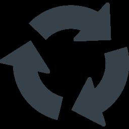 リサイクルマーク 丸型の矢印アイコン素材 3 商用可の無料 フリー のアイコン素材をダウンロードできるサイト Icon Rainbow