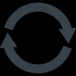 リサイクルマーク 丸型の矢印アイコン素材 4 商用可の無料 フリー のアイコン素材をダウンロードできるサイト Icon Rainbow