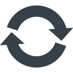 リサイクルマーク 丸型の矢印アイコン素材 5 商用可の無料 フリー のアイコン素材をダウンロードできるサイト Icon Rainbow