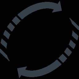 リサイクルマーク 丸型の矢印アイコン素材 6 商用可の無料 フリー のアイコン素材をダウンロードできるサイト Icon Rainbow