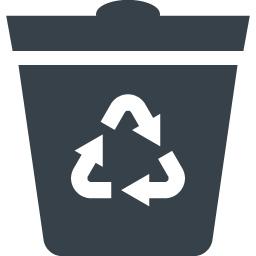 リサイクルマークの入ったゴミ箱のアイコン素材 1 商用可の無料 フリー のアイコン素材をダウンロードできるサイト Icon Rainbow