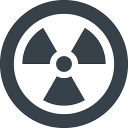 ハザードシンボル 原子力 放射能 マークのアイコン素材 1 商用可の無料 フリー のアイコン素材をダウンロードできるサイト Icon Rainbow
