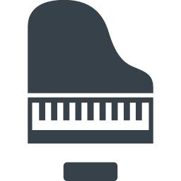 グランドピアノのイラストアイコン素材 1 商用可の無料 フリー のアイコン素材をダウンロードできるサイト Icon Rainbow