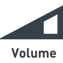 ボリュームのフリーアイコン素材 1 商用可の無料 フリー のアイコン素材をダウンロードできるサイト Icon Rainbow