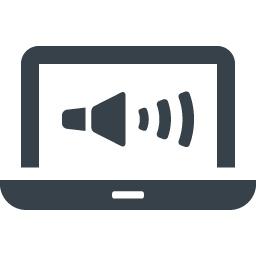 Pcの音声出力マークのアイコン素材 商用可の無料 フリー のアイコン素材をダウンロードできるサイト Icon Rainbow