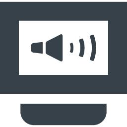 ディスプレイの音声出力マークのアイコン素材 商用可の無料 フリー のアイコン素材をダウンロードできるサイト Icon Rainbow