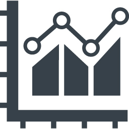 ビジネス資料で使えるデータの分析アイコン 3 商用可の無料 フリー のアイコン素材をダウンロードできるサイト Icon Rainbow