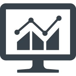 Pcでのデータの解析アイコン素材 商用可の無料 フリー のアイコン素材をダウンロードできるサイト Icon Rainbow