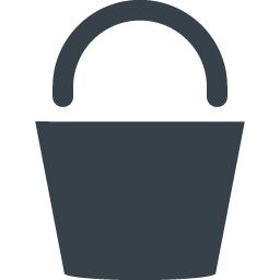 バケツのアイコン素材 2 商用可の無料 フリー のアイコン素材をダウンロードできるサイト Icon Rainbow