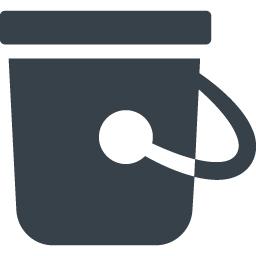 無料のアイコン素材 バケツのアイコン素材 4 商用可の無料 フリー のアイコン素材をダウンロードできるサイト Icon Rainbow