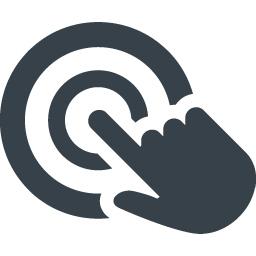 指ジェスチャー スマホのタップのアイコン素材 3 商用可の無料 フリー のアイコン素材をダウンロードできるサイト Icon Rainbow