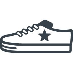 コンバース風のローカットのスニーカーアイコン 1 商用可の無料 フリー のアイコン素材をダウンロードできるサイト Icon Rainbow