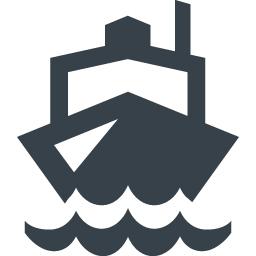 正面を向いた船のアイコン素材 4 商用可の無料 フリー のアイコン素材をダウンロードできるサイト Icon Rainbow