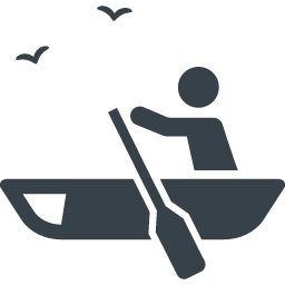 ボートを漕いでいる人のイラストアイコン素材 1 商用可の無料 フリー のアイコン素材をダウンロードできるサイト Icon Rainbow